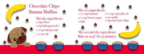 Chocolate Chips Banana Muffin